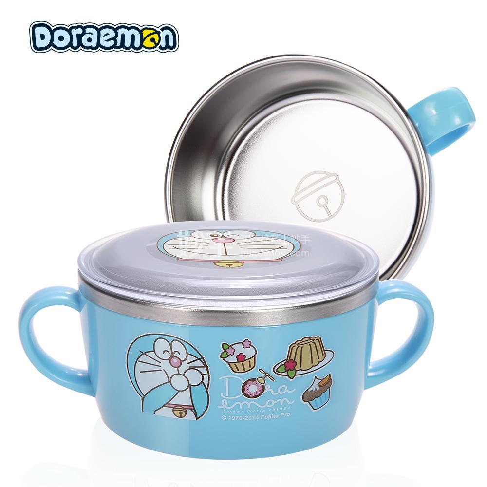 【爱婴小铺】哆啦A梦不锈钢双手柄碗(配盖)