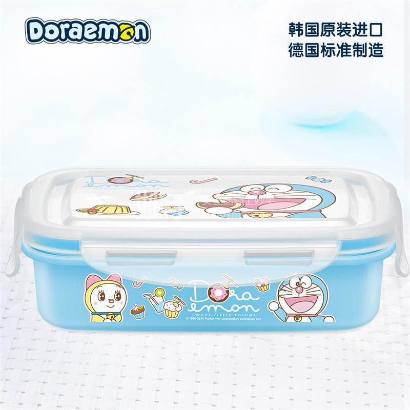 【爱婴小铺】哆啦A梦不锈钢方形锁扣保鲜便当餐盒(大容量)