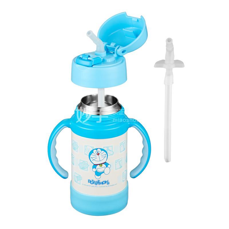 【膳魔师】膳魔师儿童双耳不锈钢吸管杯-DRM(蓝色)    280ml/FEC-281TY (DRM)