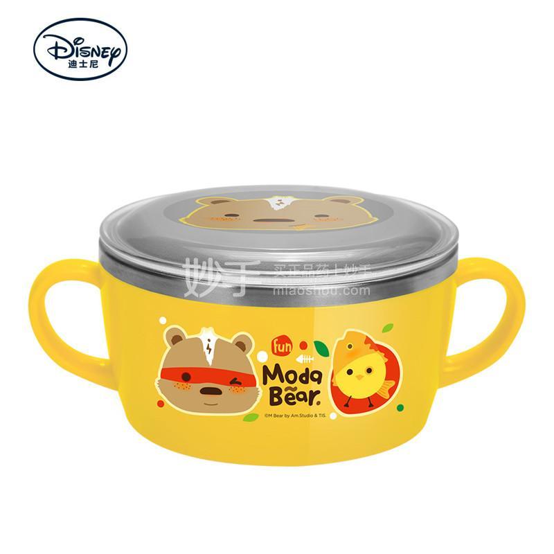 【爱婴小铺】ModaBear不锈钢双手柄碗