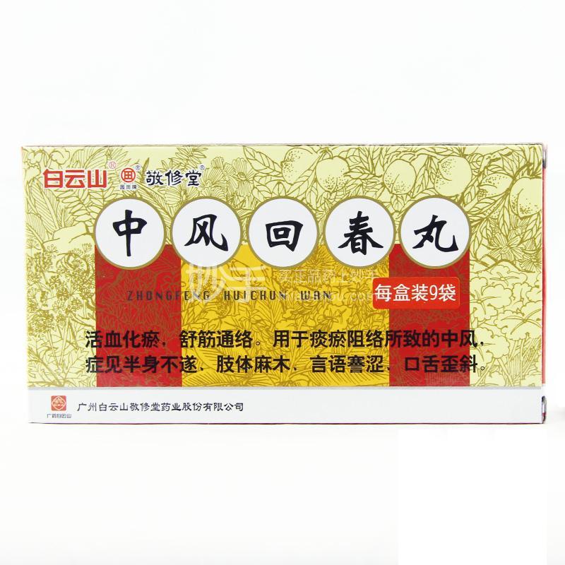 【敬修堂】中风回春丸  1.8g*9丸