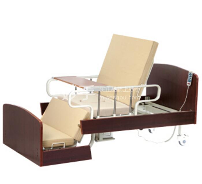 【达尔梦达】多功能电动护理床家用老人医疗床 带便孔医院医疗病床 护理床系列 ZB-4AM电动起背落脚抬腿坐便-木质床头尾板