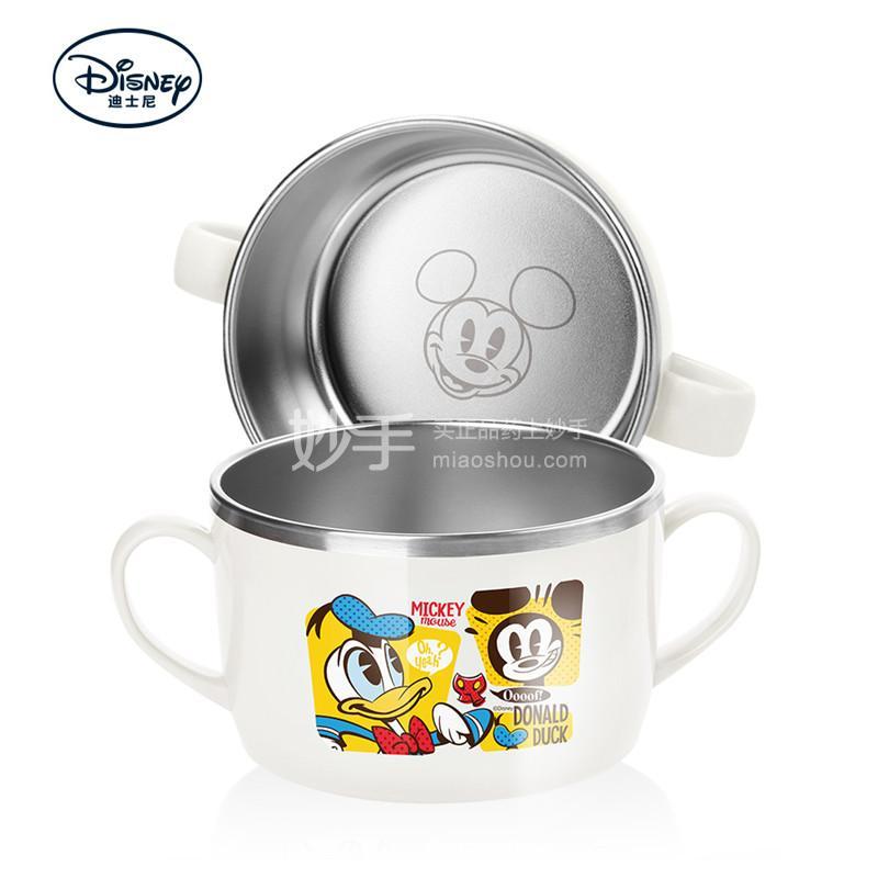 【爱婴小铺】迪士尼妙趣米奇不锈钢双手柄大面碗