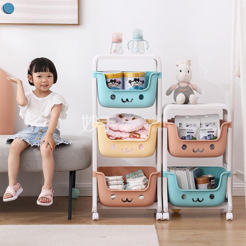 抖店儿童玩具置物架简易款三层