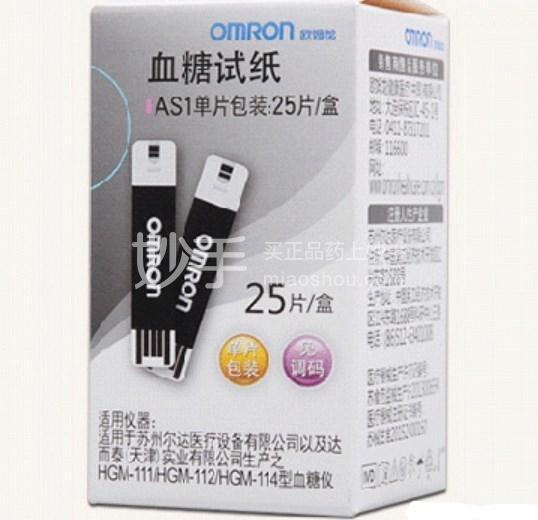 欧姆龙 血糖试纸(AS1单片包装) 25s