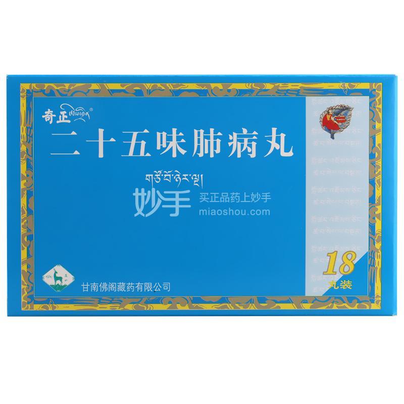 【奇正】二十五味肺病丸 0.5g*18丸