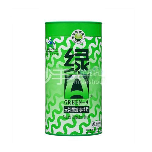 【绿A】天然螺旋藻精片     0.5g*12s*25袋