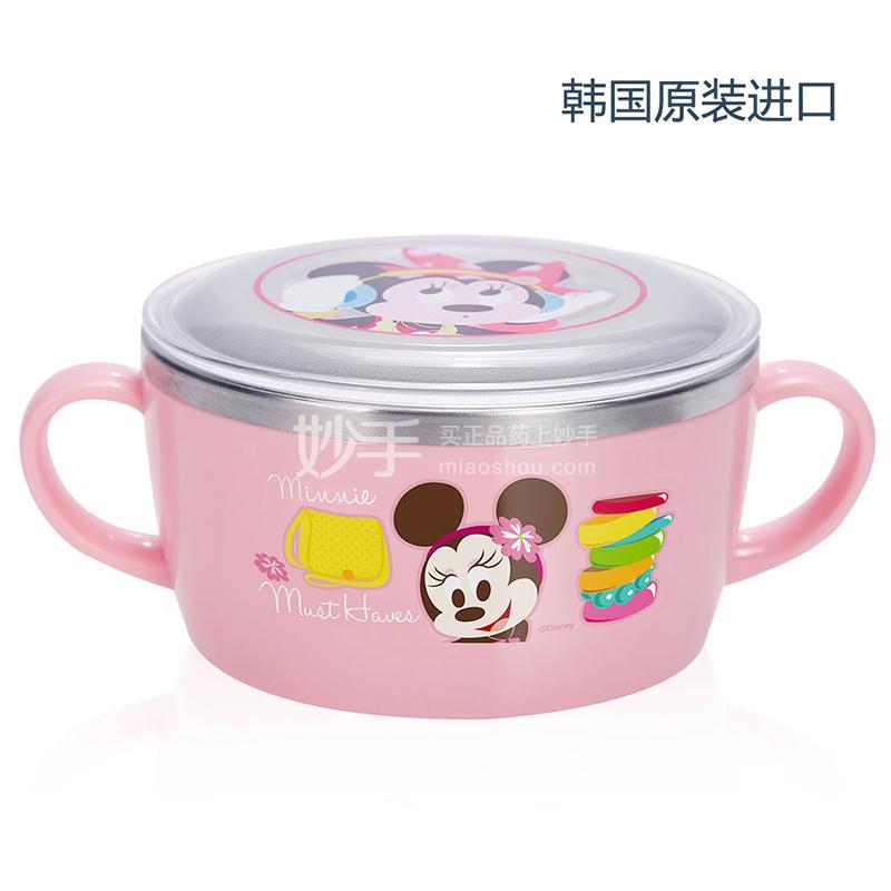 【爱婴小铺】米妮不锈钢双手柄碗(配盖)